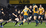 Chris Jack sets up a tackle on Stirling Mortlock during the All Blacks v Australia tri nations rugby match. Eden Park, Auckland, New Zealand. Saturday 21 July 2007. Photo: Marc Weakley/Content Creators