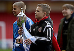 Kids cup presentation during the English Football League One match at Bramall Lane, Sheffield. Picture date: November 19th, 2016. Pic Jamie Tyerman/Sportimage