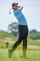 Thomas Pieters (BEL) watches his tee shot on 13 during Friday's round 2 of the 117th U.S. Open, at Erin Hills, Erin, Wisconsin. 6/16/2017.<br /> Picture: Golffile   Ken Murray<br /> <br /> <br /> All photo usage must carry mandatory copyright credit (&copy; Golffile   Ken Murray)