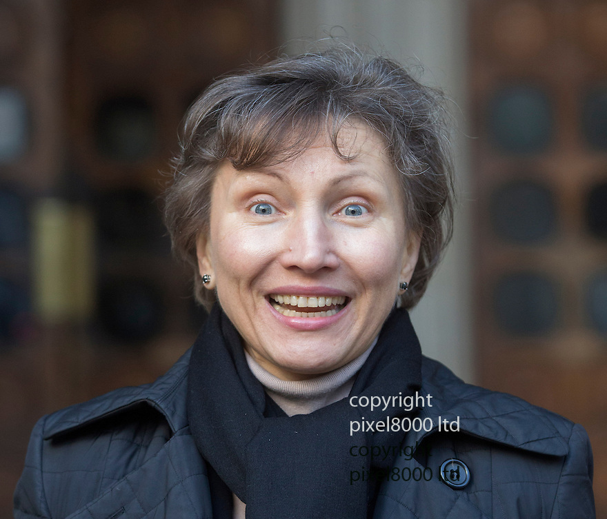 Picture shows: Marina Litvinenko smiling outside the High Court in London today after winning the judgement.<br /> <br /> The widow of murdered former KGB spy Alexander Litvinenko has won a High Court victory raising her hopes of obtaining a public inquiry into her husband's death.<br /> Marina Litvinenko challenged the UK Government's decision to await the outcome of a normal inquest before deciding whether there should be an inquiry with powers to probe more deeply into the killing.<br /> <br /> Now three High Court judges have decided that Home Secretary Theresa May must reconsider the decision in the light of their ruling.<br /> <br /> <br /> <br /> <br /> Pic by Gavin Rodgers/Pixel 8000 Ltd  11.2.14