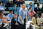 16 February 2017: UNC head coach Sylvia Hatchell. The University of North Carolina Tar Heels hosted the Ramblin' Wreck from Georgia Tech University at Carmichael Arena in Chapel Hill, North Carolina in a 2016-17 NCAA Division I Women's Basketball game. North Carolina won the game 89-88.