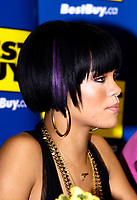 "Toronto (ON), June 14, 2007  - Rihanna, an artist with musical influences from R&B, pop and reggae, signing copies of her just released CD Good Girl Gone Bad, which includes the smash single ""Umbrella"" featuring Jay-Z, at Toronto's Best Buy store at Eaton Centre."