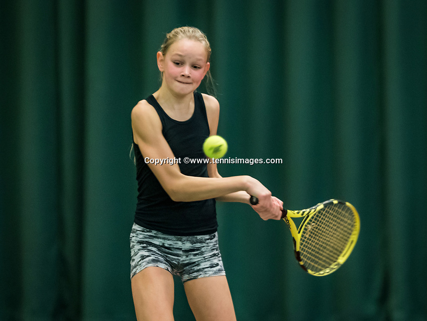 Wateringen, The Netherlands, November 27 2019, De Rhijenhof , NOJK 12/16 years, Mies Hoeben (NED)<br /> Photo: www.tennisimages.com/Henk Koster