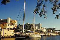 A residential channel. Marinas, waterways, harbor, ship, ships. Florida, marina.