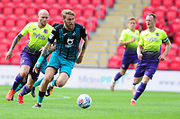 Oli McBurnie of Swansea City in action during the pre season friendly match between Exeter City and Swansea City at St James Park in Exeter, England, UK. Saturday, 20 July 2019