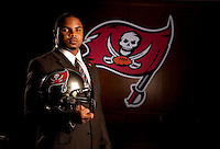 APRIL 27, 2012 - TAMPA, FLORIDA: Portrait of Tampa Bay Buccaneers 2012 first round draft pick, Running Back Doug Martin. Photo by Matt May/Tampa Bay Buccaneers