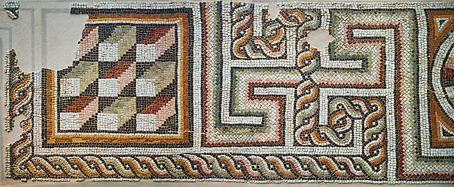 Geometric Roman mosaics, Eastern Mediterranean, 4th century AD. The Louvre Museum, Paris