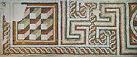 Geometric Roman mosaics, Eastern Mediterranean, 4th century AD. The Louvre Museum, Paris