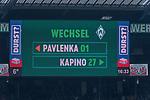 13.04.2019, Weser Stadion, Bremen, GER, 1.FBL, Werder Bremen vs SC Freiburg, <br /> <br /> DFL REGULATIONS PROHIBIT ANY USE OF PHOTOGRAPHS AS IMAGE SEQUENCES AND/OR QUASI-VIDEO.<br /> <br />  im Bild<br /> <br /> verletzungsbedingte Auswechslung <br /> Stefanos Kapino (Werder Bremen #27) für Jiri Pavlenka (Werder Bremen #01)<br /> <br /> <br /> Foto © nordphoto / Kokenge