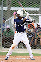 Josh Hart #16 of Parkview High School, Georgia playing for the East Cobb Baseball during the WWBA World Champsionship 2012 at the Roger Dean Complex on October 27, 2012 in Jupiter, Florida. (Stacy Jo Grant/Four Seam Images)..