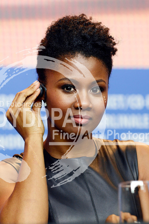 Emayatzy Corinealdi during the 'Miles Ahead' press conference at the 66th Berlin International Film Festival / Berlinale 2016 on February 18, 2016 in Berlin, Germany.