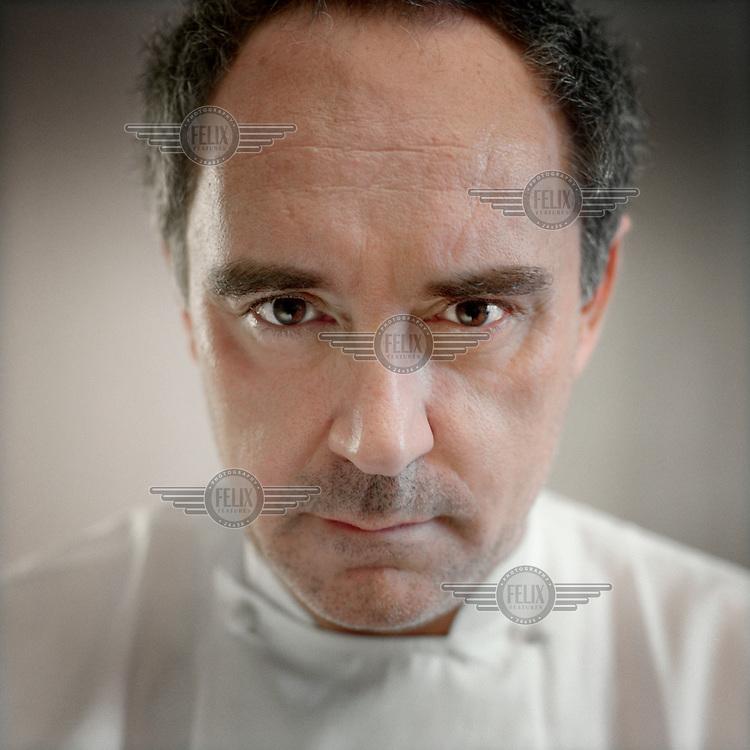 Chef Ferran Adria of El Bulli restaurant, in his workshop in Barcelona.