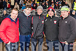 Eoin Finnegan, Jack Maye, John Maye, Flor Cronin, Marty McSwiney, Kenmare supporters, pictured at the AIB Munster GAA football club final Kenmare v Adare held in Mallow on Sunday last.