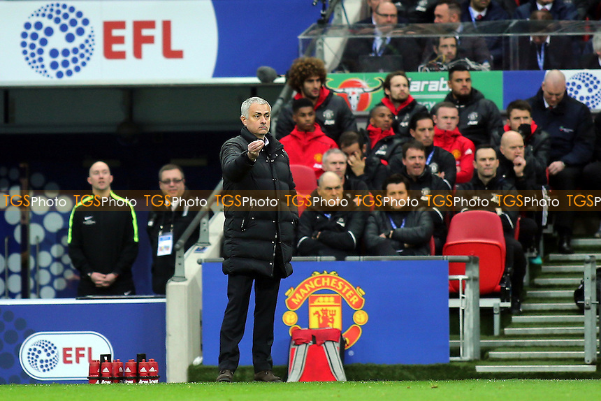 Manchester United Manager, Jose Mourinho during Manchester United vs Southampton, EFL Cup Final Football at Wembley Stadium on 26th February 2017