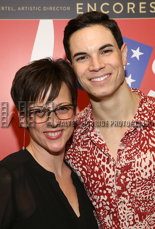 """Casey Hushion and Jason Gotay attends the closing Night performance reception for Encores! """"Call Me Madam"""" at City Center on February 10, 2019 in New York City."""