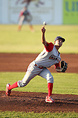 Williamsport Crosscutters pitcher Garrett Claypool (25) during a game vs the Batavia Muckdogs at Dwyer Stadium in Batavia, New York July 26, 2010.   Batavia defeated Williamsport 3-2.  Photo By Mike Janes/Four Seam Images