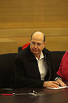 Israel's upcoming Defense Minister Moshe Yaalon, at a Likud Party gathering, before the swearing-in of the new government, at the Knesset in Jerusalem, Israel.<br /> <br /> Photo by Ahikam Seri