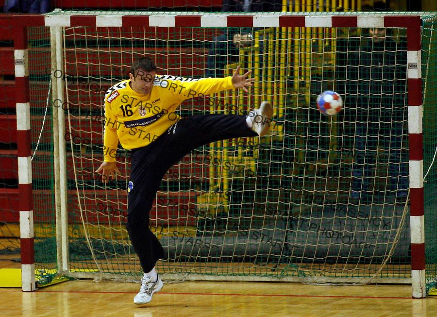 Pejanovic Dimitrije Sport Rukomet Srbija Rumunija Serbia Romania Friendly Handball Belgrade Serbia Starsport Pedja Milosavljevic National Team 27.12.2008. photo: Pedja Milosavljevic / STARSPORT