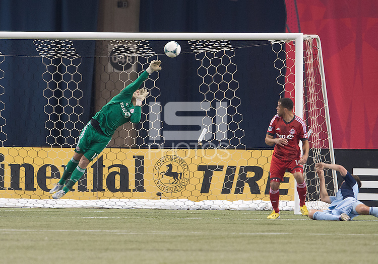 09 March 2013: Toronto FC goalkeeper Joe Bendik #12 in action during an MLS game between Sporting Kansas City and Toronto FC at The Rogers Centre in Toronto, Ontario Canada..Toronto FC won 2-1.