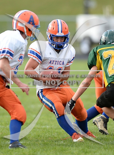 Attica Blue Devils Junior Varsity Football against the Alexander Trojans at Alexander High School in Alexander, New York.  (Copyright Mike Janes Photography)