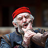 The Merchant of Venice <br /> by William Shakespeare <br /> at The Globe Theatre, London, Great Britain <br /> 25th April 2015 <br /> <br /> Jonathan Pryce as Shylock <br /> <br /> <br /> Photograph by Elliott Franks <br /> Image licensed to Elliott Franks Photography Services