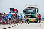 HAINAN ISLAND, CHINA - AUGUST 23:  Robert Oberst of USA competes at the Truck Pull event during the World's Strongest Man competition at Serenity Marina on August 23, 2013 in Hainan Island, China.  Photo by Victor Fraile