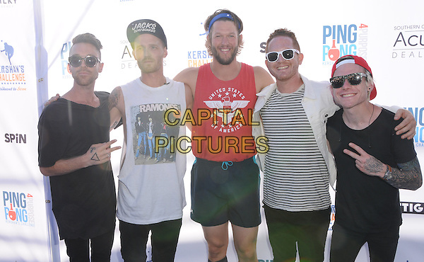 11 August 2016 - Los Angeles, California. Half the Animal, Clayton Kershaw. Clayton Kershaw's 4th Annual Ping Pong 4 Purpose Celebrity Tournament held at Dodger Stadium. <br /> CAP/ADM/BT<br /> &copy;BT/ADM/Capital Pictures