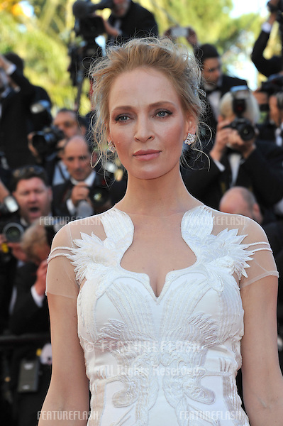 Uma Thurman at the gala awards ceremony at the 67th Festival de Cannes.<br /> May 24, 2014  Cannes, France<br /> Picture: Paul Smith / Featureflash