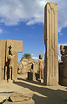 Sixth Pylon and Court at Karnak originally built by Thutmose III. Thutmose III ruled Egypt from 1479-1425 BC however for the first 22 years his co-regent was his stepmother Queen Hatshepsut.He created the largest kingdom Egypt had ever known conducting seventeen campaigns from Syria to Nubia.Karnak is part of the ancient city of Thebes ( built in and around modern day Luxor).The building of the Temple complex at Karnak began in the reign of the Pharaoh Senusret I who ruled Egypt from 1971-1926 BC. Approximately 30 Pharaohs contributed to the building of the complex and in so doing made it the largest ancient religious site in the world. The ancient name for Karnak was Ipet-isut (Most select of places).