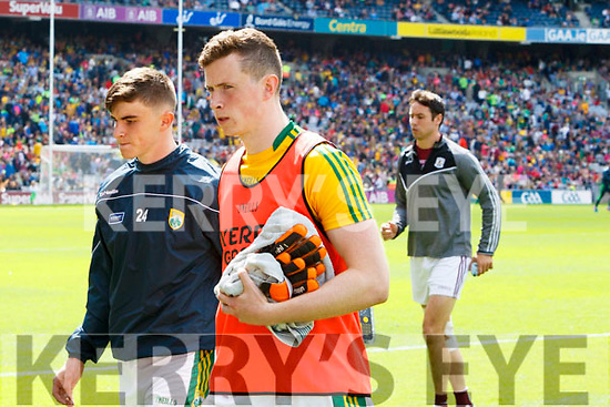 Sean O'Shea and Shane Ryan Kerry players after the All Ireland Senior Football Quarter Final with Galway at Croke Park on Sunday.