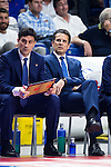 Valencia Basket's coach Pedro Martinez during the first match of the Semi Finals of Liga Endesa Playoff at Barclaycard Center in Madrid. June 02. 2016. (ALTERPHOTOS/Borja B.Hojas)