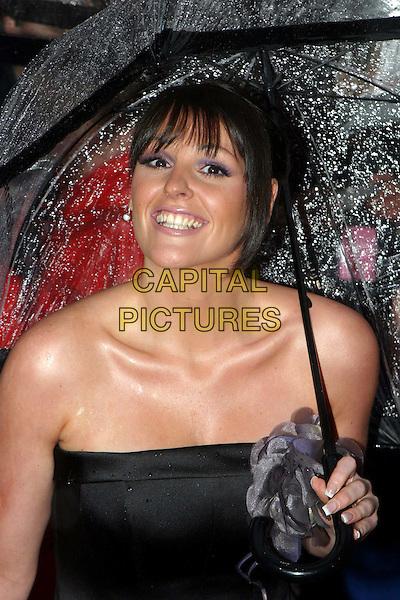 SURANNE JONES.British Academy Television Awards.headshot, portrait, strapless, flower, corsage.www.capitalpictures.com.sales@capitalpictures.com.© Capital Pictures.