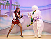 Jack and the Beanstalk <br /> by Susie McKenna with music by Steven Edis <br /> at the Hackney Empire, London, Great Britain <br /> press photocall <br /> 25th November 2015  <br /> <br /> Debbie Kurup as Jack <br /> <br /> Kat B as Snowman<br /> <br /> <br /> <br /> <br /> Photograph by Elliott Franks <br /> Image licensed to Elliott Franks Photography Services
