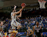 BROOKINGS, SD - JANUARY 7:  Michael Orris #50 from South Dakota State takes the ball to the basket against the University of Nebraska Omaha during their game Saturday afternoon at Frost Arena in Brookings. (Dave Eggen/Inertia)