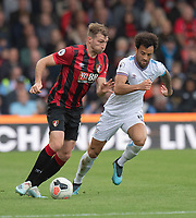 Bournemouth's Jack Stacey (left) under pressure from \West Ham United's Felipe Anderson (right) <br /> <br /> Photographer David Horton/CameraSport<br /> <br /> The Premier League - Bournemouth v West Ham United - Saturday 28th September 2019 - Vitality Stadium - Bournemouth<br /> <br /> World Copyright © 2019 CameraSport. All rights reserved. 43 Linden Ave. Countesthorpe. Leicester. England. LE8 5PG - Tel: +44 (0) 116 277 4147 - admin@camerasport.com - www.camerasport.com