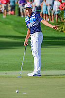 Rickie Fowler (USA) looks for his putt to break to his left on 12  during round 3 of the Honda Classic, PGA National, Palm Beach Gardens, West Palm Beach, Florida, USA. 2/25/2017.<br /> Picture: Golffile | Ken Murray<br /> <br /> <br /> All photo usage must carry mandatory copyright credit (&copy; Golffile | Ken Murray)