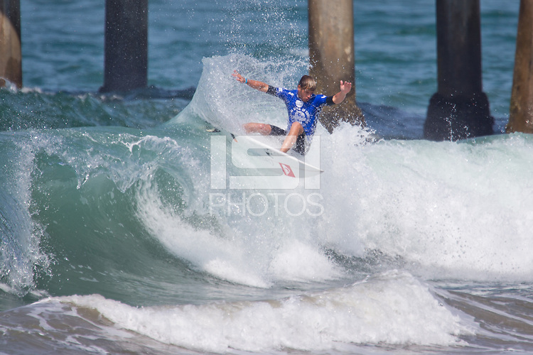 HUNTINGTON BEACH, California - July 29-Aug. 3, 2014: The 2014 Vans US Open of Surfing held on the South side of the Huntington Beach pier.
