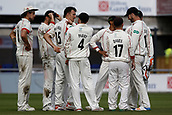 8th September 2017, Emirates Old Trafford, Manchester, England; Specsavers County Championship, Division One; Lancashire versus Essex; A third wicket of the innings for Ryan McLaren of Lancashire after he has  Adam Wheaterof Essex caught by Vilas for 21