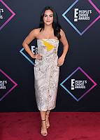 LOS ANGELES, CA. November 11, 2018: Camila Mendes at the E! People's Choice Awards 2018 at Barker Hangar, Santa Monica Airport.<br /> Picture: Paul Smith/Featureflash