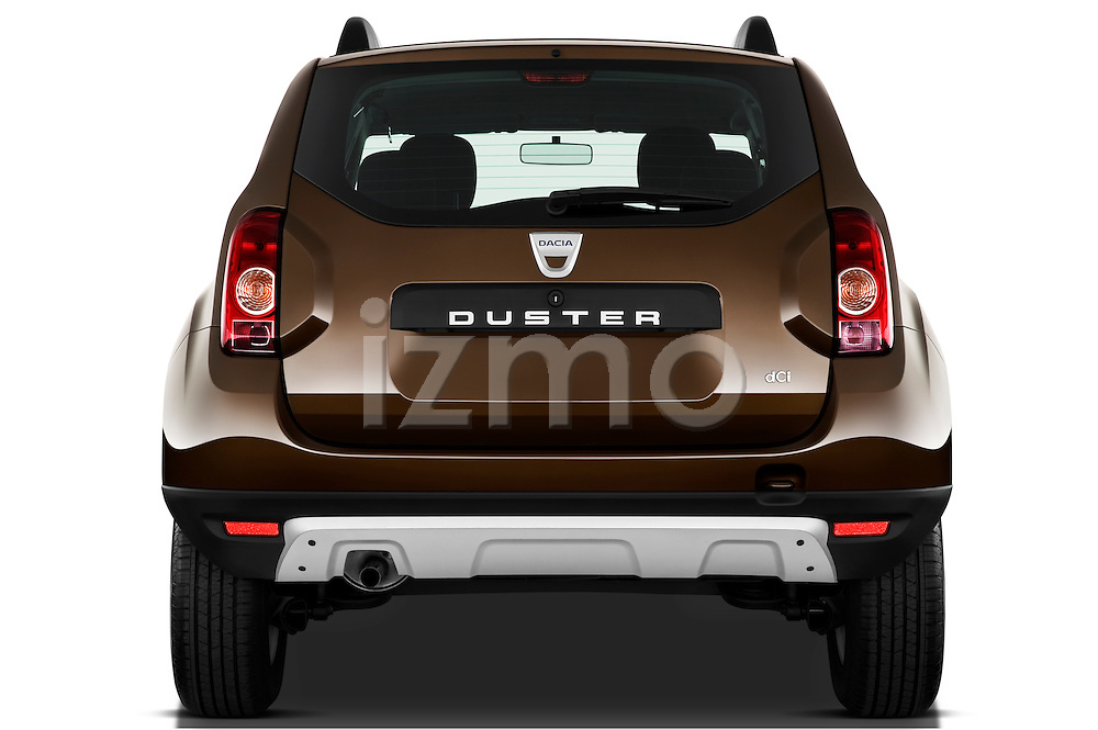 Straight rear view of a 2010 Dacia Duster 4 Door SUV