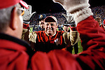 WEST LAFAYETTE, IN - OCTOBER 16: Head coach Barry Alvarez of the Wisconsin Badgers is all smiles after beating the Purdue Boilermakers at Ross-Ade Stadium in West Lafayette, Indiana on October 16, 2004. Wisconsin beat Purdue 20-17. (Photo by David Stluka)