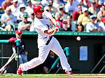 10 March 2010: St. Louis Cardinals' infielder David Freese in action during a Spring Training game against the Washington Nationals at Roger Dean Stadium in Jupiter, Florida. The Cardinals defeated the Nationals 6-4 in Grapefruit League action. Mandatory Credit: Ed Wolfstein Photo