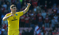 Burnley's Sam Vokes applauds the travelling Burnley fans <br /> <br /> Photographer Ian Cook/CameraSport<br /> <br /> The Premier League - Bournemouth v Burnley - Saturday 13th May 2017 - Vitality Stadium - Bournemouth<br /> <br /> World Copyright &copy; 2017 CameraSport. All rights reserved. 43 Linden Ave. Countesthorpe. Leicester. England. LE8 5PG - Tel: +44 (0) 116 277 4147 - admin@camerasport.com - www.camerasport.com