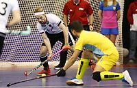 Christopher Ruehr, Almat Yerkin /   /        /   <br /> / Sport / Hockey Hnhockey / World Championships Weltmeisterschaft  /  2017/2018 / 07.02.2018 / GER BRGermany vs. Kasachstan  *** Local Caption *** © pixathlon<br /> Contact: +49-40-22 63 02 60 , info@pixathlon.de