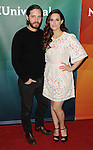 Aaron Stanford and Emily Hampshire arriving at the NBCUniversal  Summer Press Day 2016, held at the Four Seasons Westlake Hotel Westlake Village, Ca. April 1, 2016