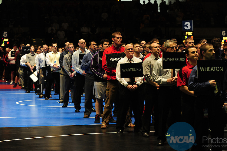 12 MAR 2011: The Division III Men's Wrestling Championship held at the La Crosse Center in La Crosse Wisconsin. Stephen Nowland/NCAA Photos