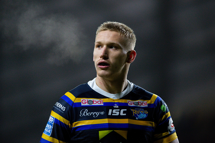 Leeds Rhinos' Mikolaj Oledzki<br /> <br /> Photographer Alex Dodd/CameraSport<br /> <br /> Betfred Super League Round 6 - Leeds Rhinos v Toronto Wolfpack - Thursday 5th March 2020 - Headingley - Leeds<br /> <br /> World Copyright © 2020 CameraSport. All rights reserved. 43 Linden Ave. Countesthorpe. Leicester. England. LE8 5PG - Tel: +44 (0) 116 277 4147 - admin@camerasport.com - www.camerasport.com
