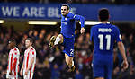 Davide Zappacosta of Chelsea celebrates scoring his goal to make it 5-0 during the premier league match at Stamford Bridge Stadium, London. Picture date 30th December 2017. Picture credit should read: Robin Parker/Sportimage