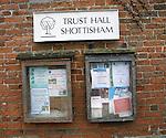 Village community notice board, Shottisham, Suffolk, England