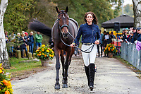 USA-Jennie Brannigan presents Stella Artois during the First Horse Inspection for the CCIO4*-L FEI Nations Cup Eventing. 2019 Military Boekelo-Enschede International Horse Trials. Wednesday 8 October. Copyright Photo: Libby Law Photography.